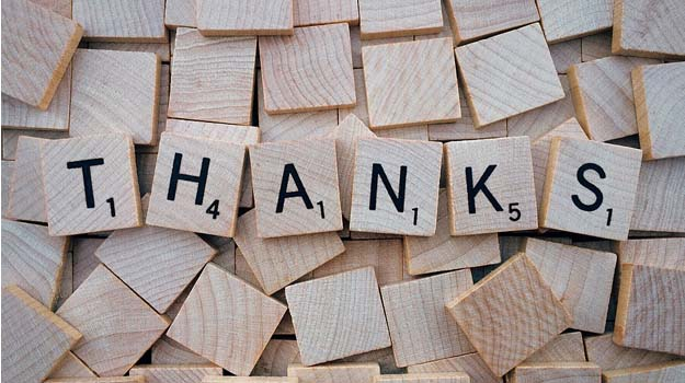 "When ""thank you"" seem to be the hardest words"